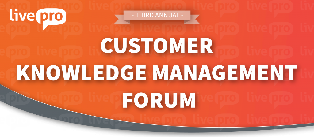 livepro CX Knowledge Management Forums 2018