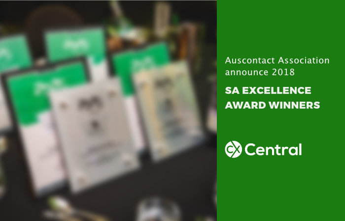 Auscontact 2018 South Australia award winners