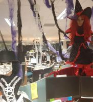Halloween call centre workstations decoration