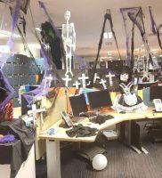 Halloween desk decorations