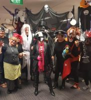Halloween dress up in the call centre