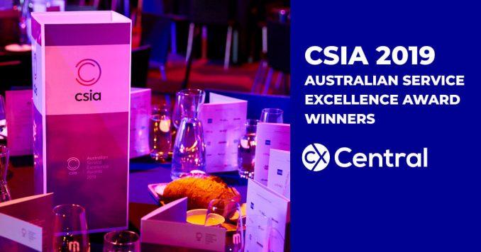 CSIA 2019 Australian Service Excellence Award winners