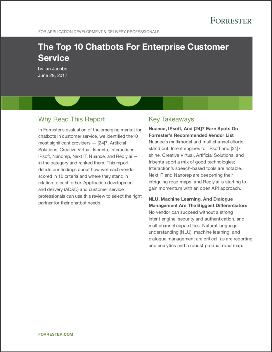 The Top 10 Chatbots For Enterprise Customer Service