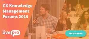 livepro CX Knowledge Management Forum Sydney July 2019