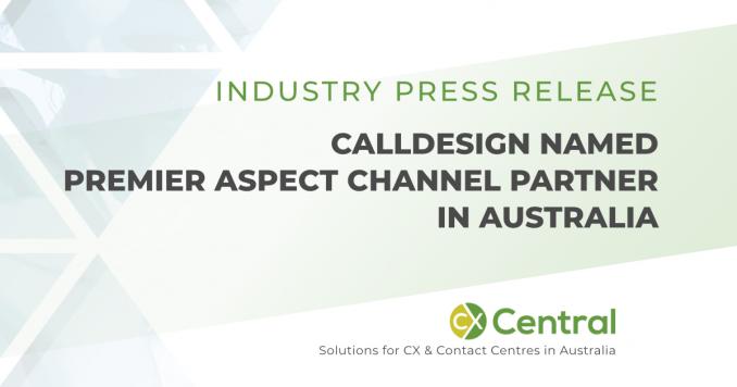 calldesign named premier aspect channel partner in Australia