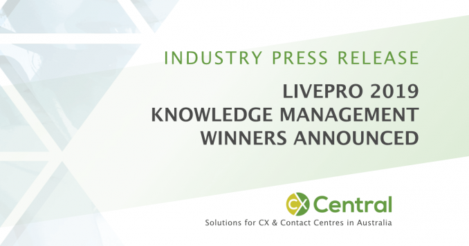 2019 livepro Knowledge Management Award Winners