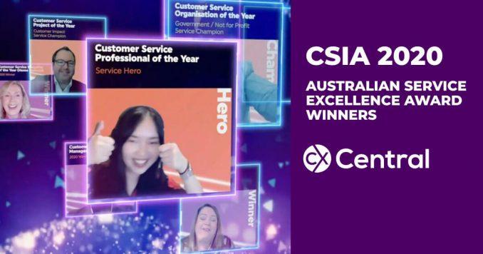 CSIA 2020 Australian Service Excellence Award winners