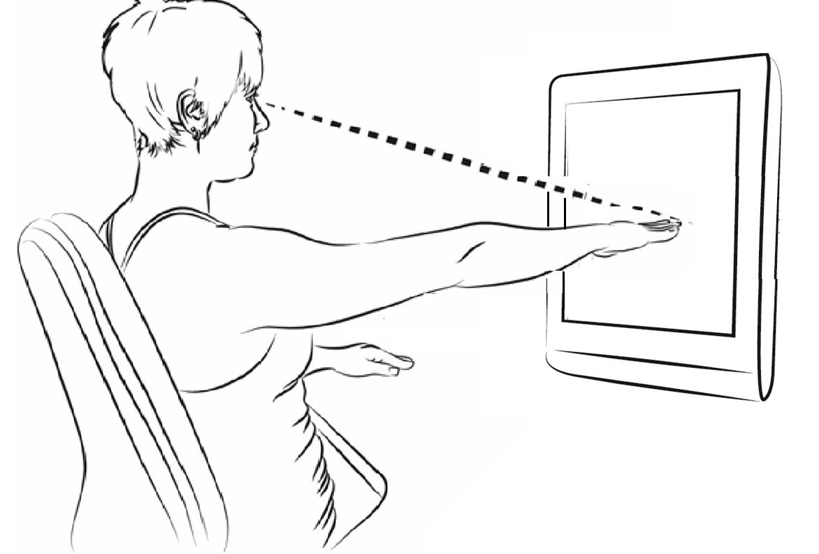 Checking screen height to reduce call centre neck pain