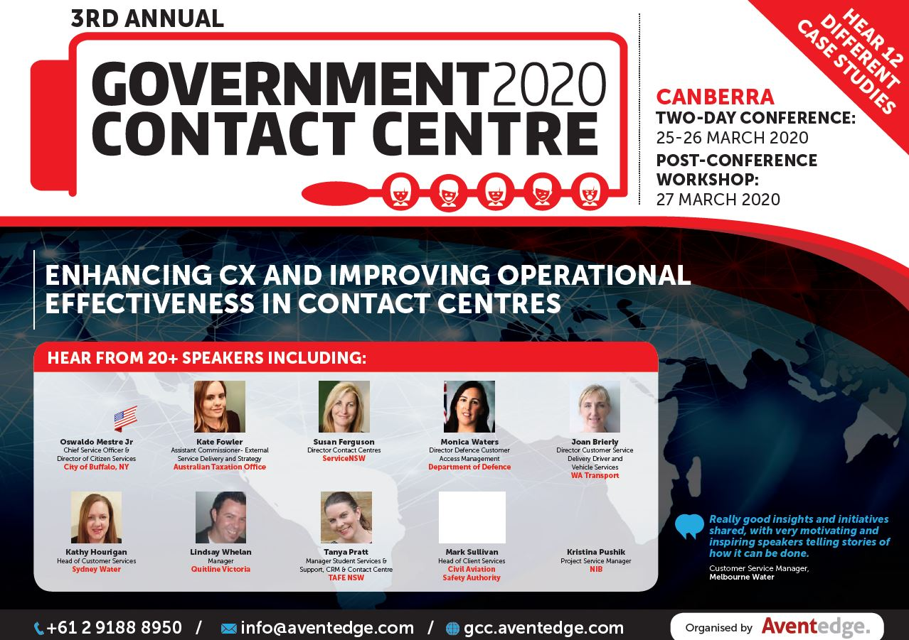 2020 Government Contact Centres Conference promotion