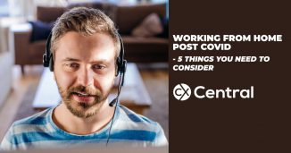 Tips for working from home post COVID in a call centre