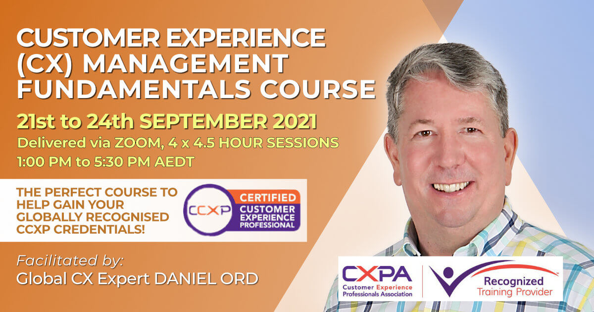 Customer Experience (CX) Management training course September 2021