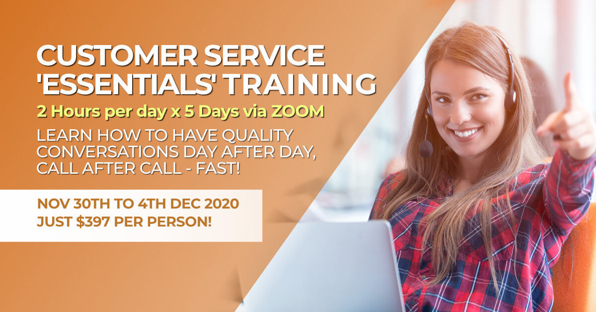 December 2020 Customer Service Training for contact centres
