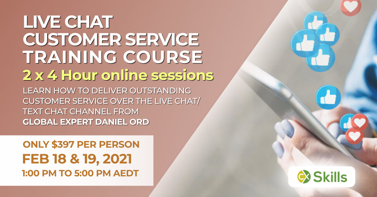 Feb 2021 Live Chat customer service training course Australia