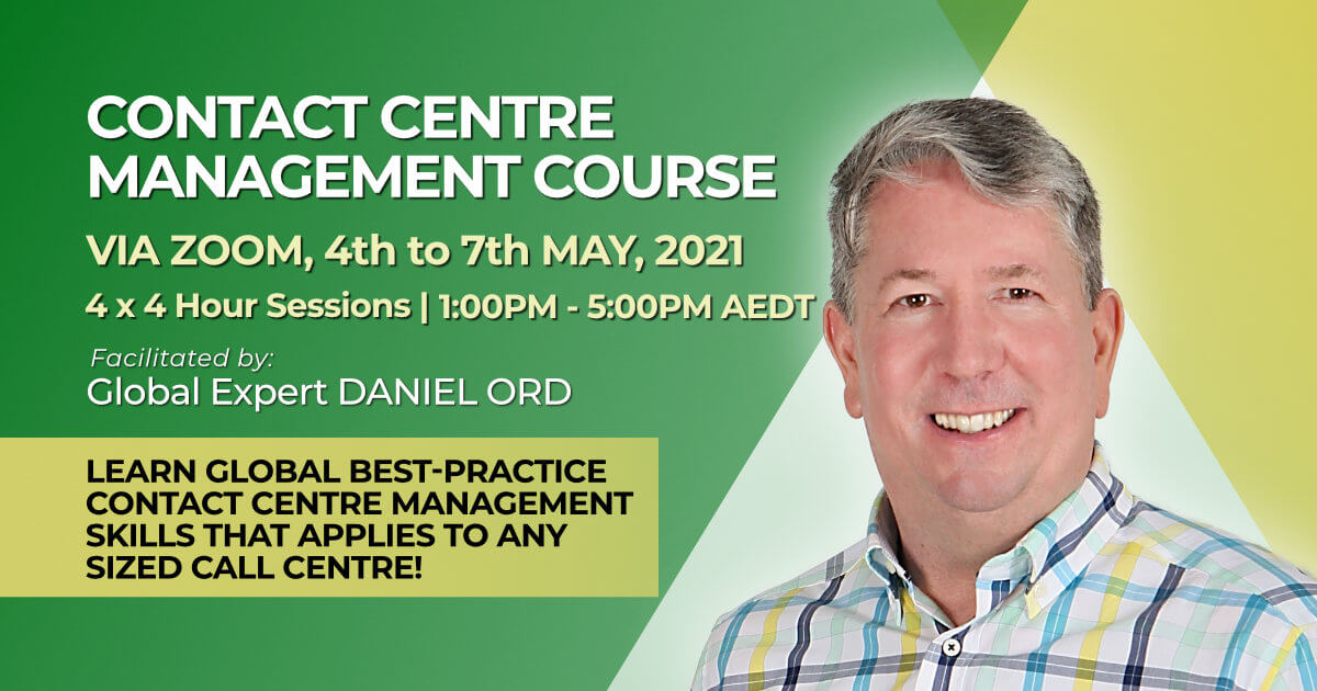 MAY 2021 call centre managers online training course