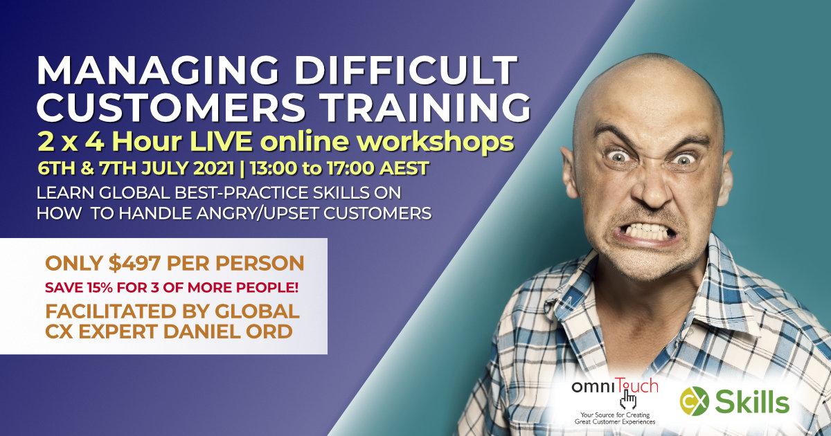 Managing Difficult Customers July 2021 training course