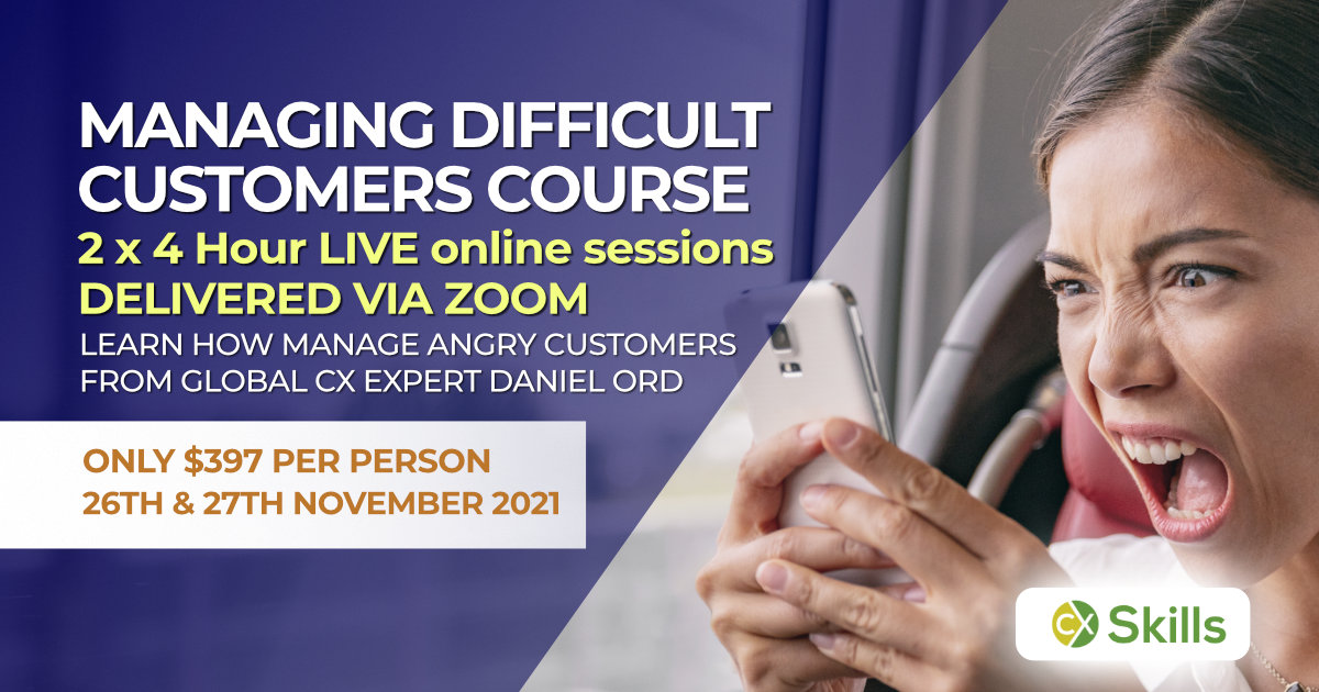 Managing difficult customers course in November 2020
