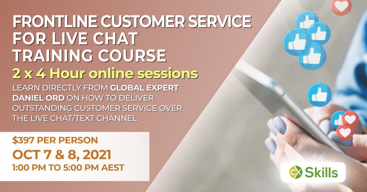 Customer Service training for live chat October 2021