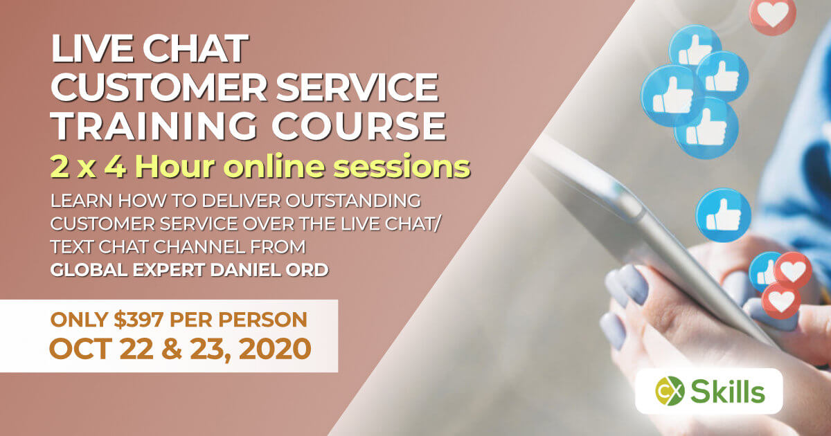 October 2020 Live Chat customer service training course