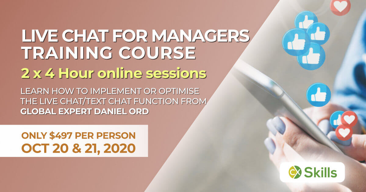 October 2020 Live Chat training for managers