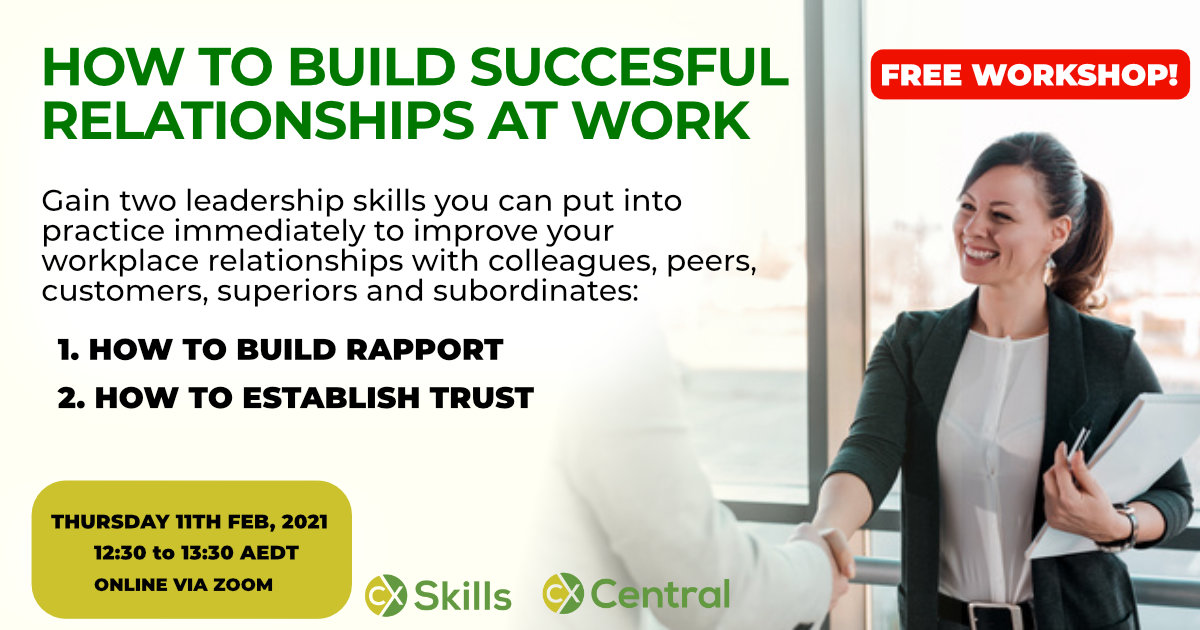Build successful relationships at work Feb 2021 workshop