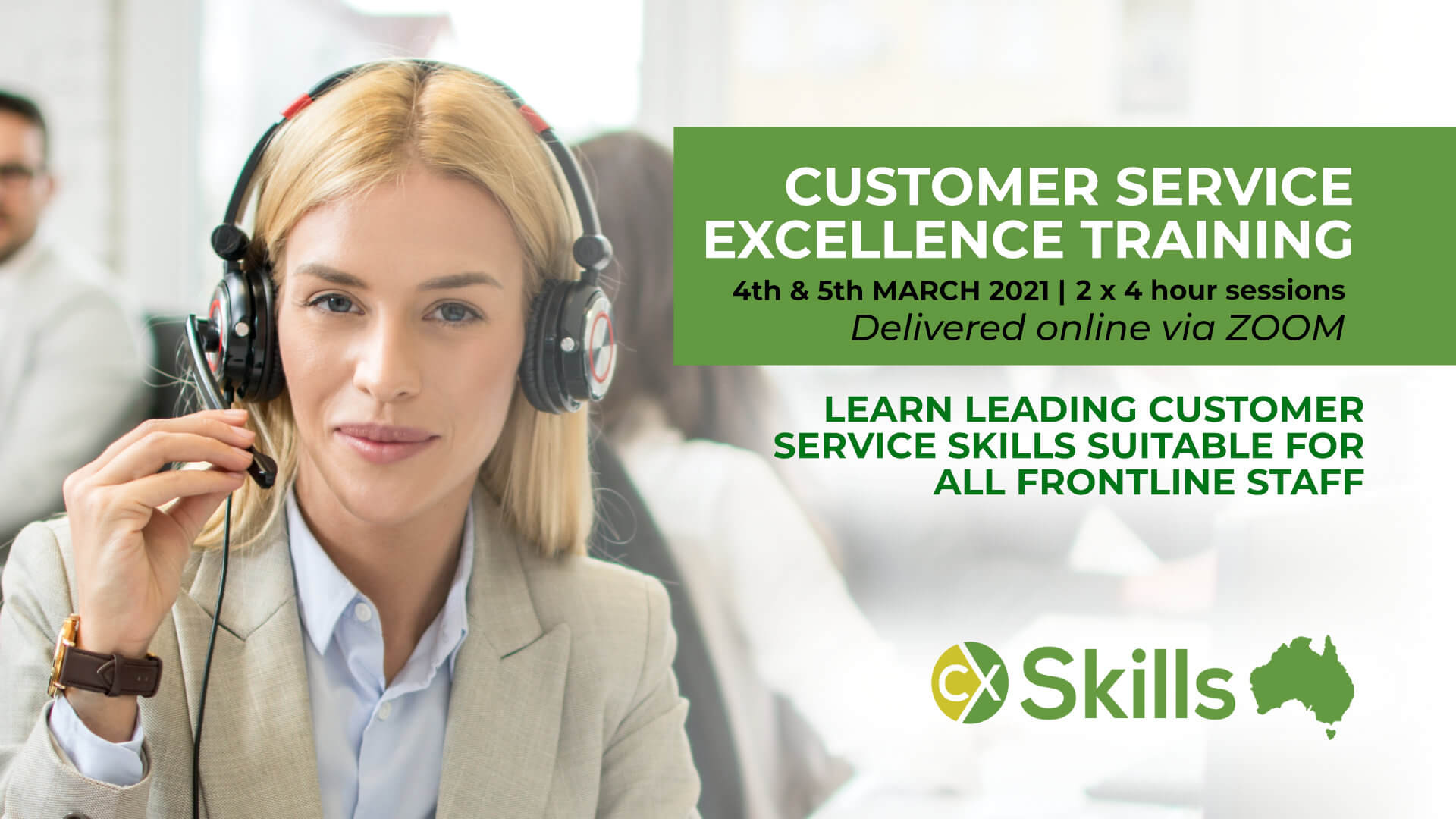 Customer Service Excellence online training course March 2021