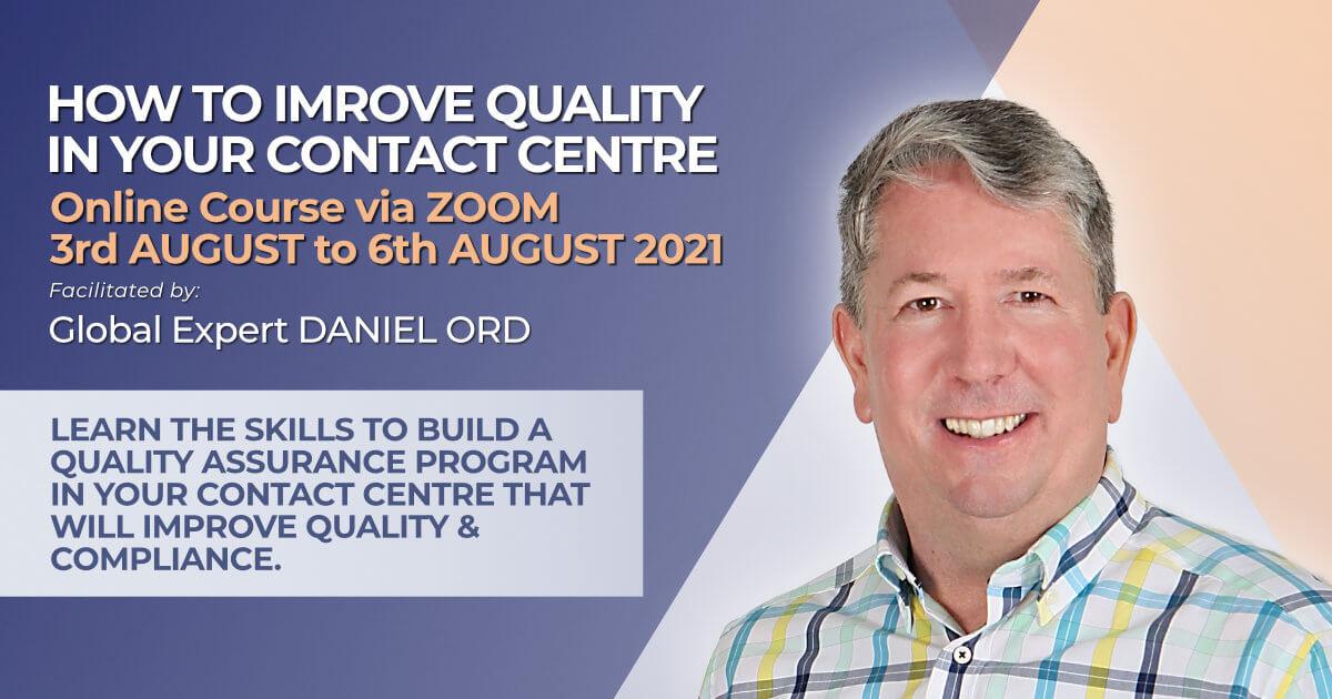 How to design a QA program for call centres August 2021 training course