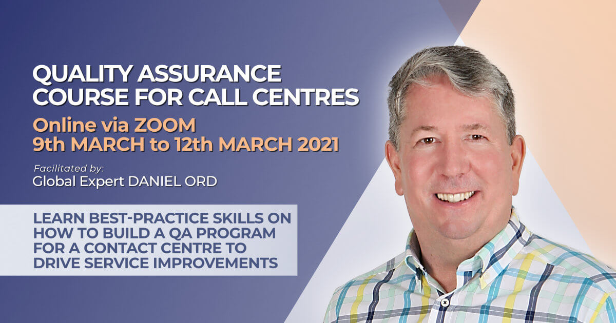 How to design a QA program for call centres March 2021 course