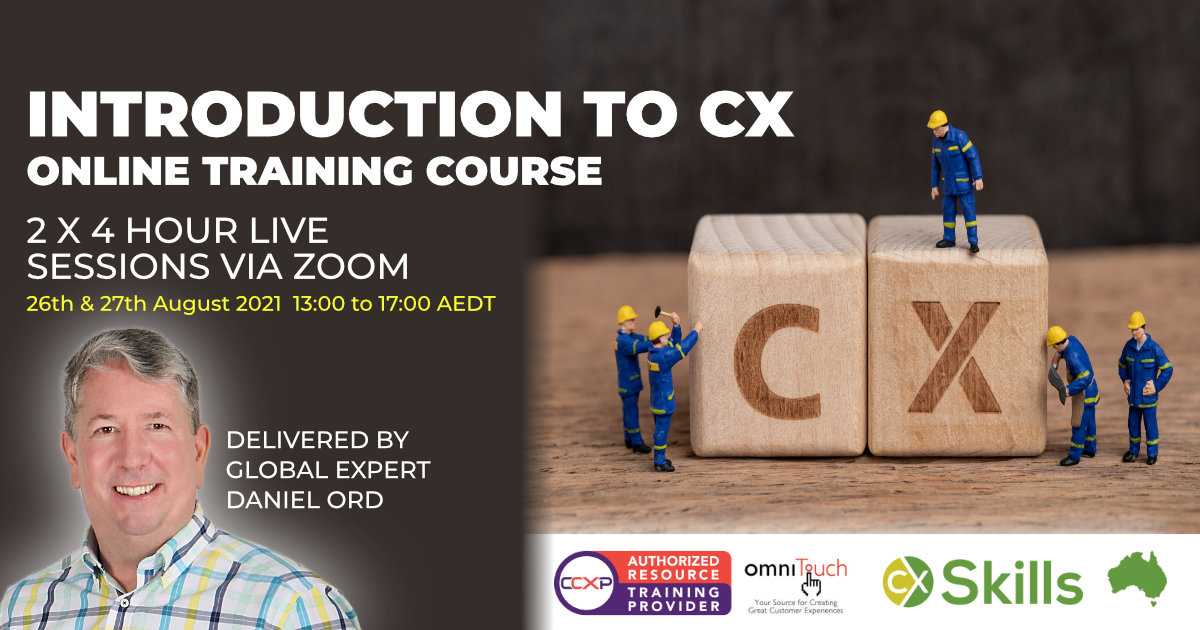 CX for beginners online training course August 2021