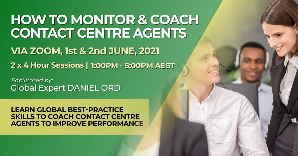 June 2021 How to Monitor and Coach Contact Centre Agents training course