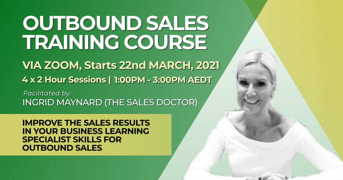 March 2021 Outbound Sales Training Course