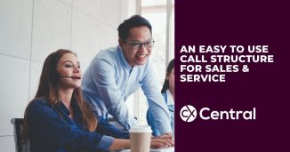 coachable call structure for sales and service in a call centre