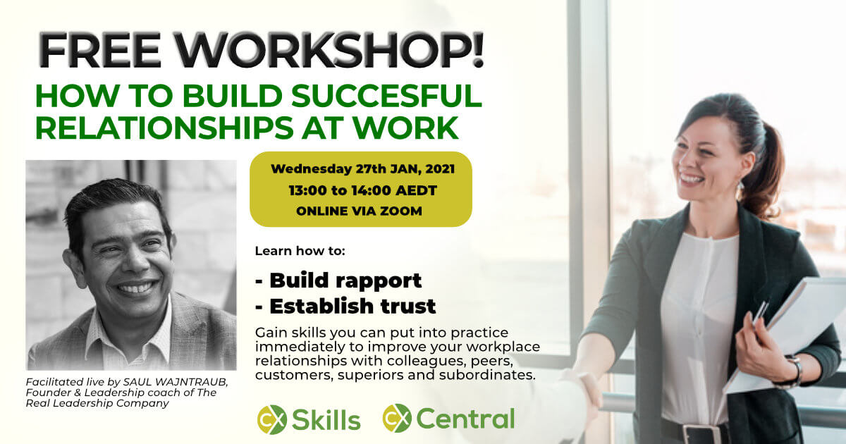 Building successful relationships at work free workshop