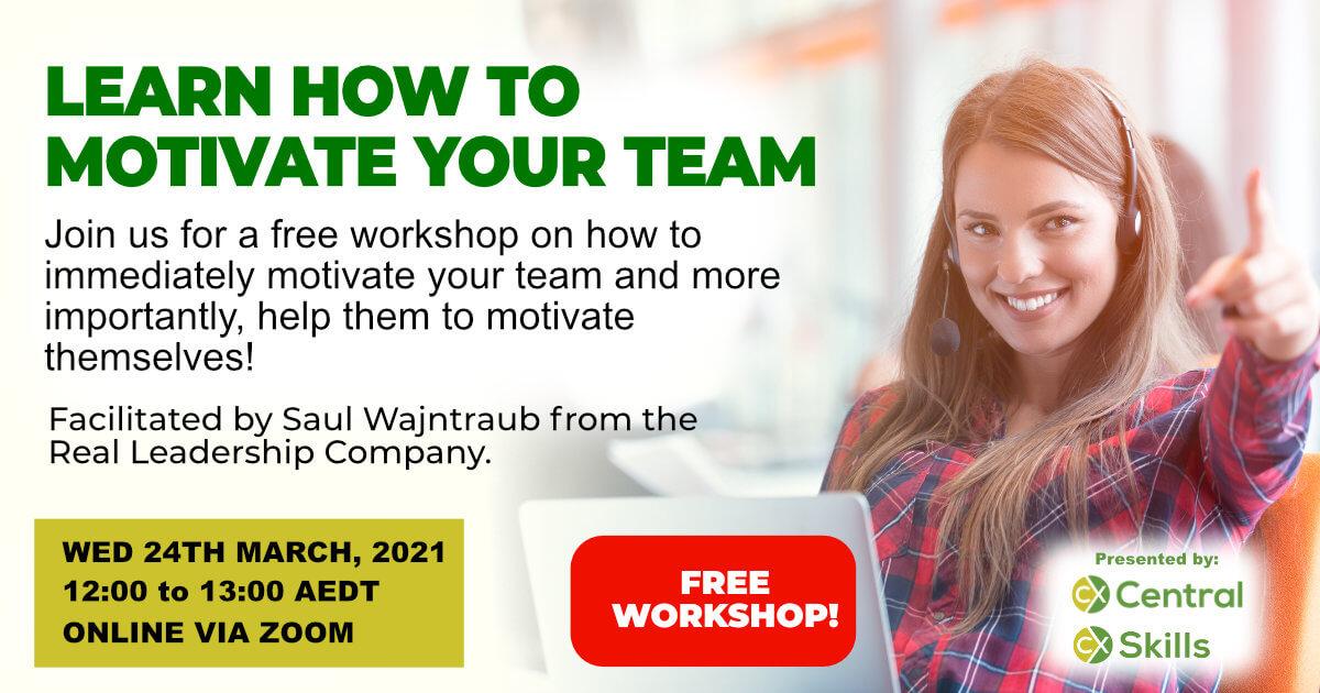 Motivating My Team workshop March 24 2021