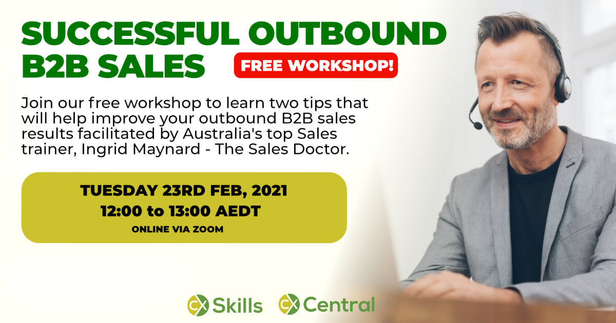 Free Outbound sales workshop Feb 2021