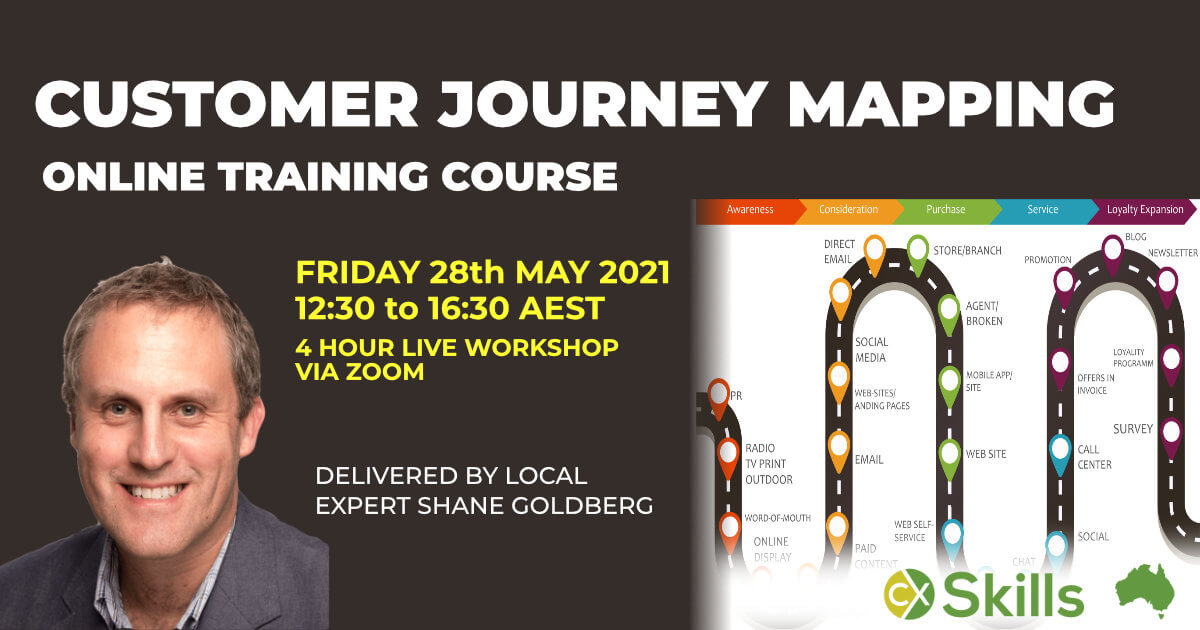 Customer Journey Mapping May 2021 online training course