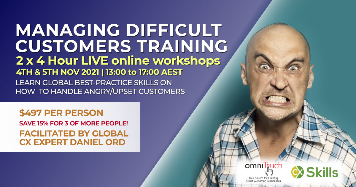 How to Handle Difficult Customers training course November 2021 course