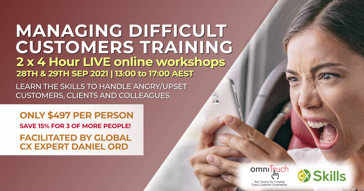 Managing Difficult Customers September 2021 course