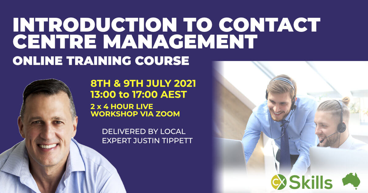 Intro to Contact Centre Management Training course July 2021