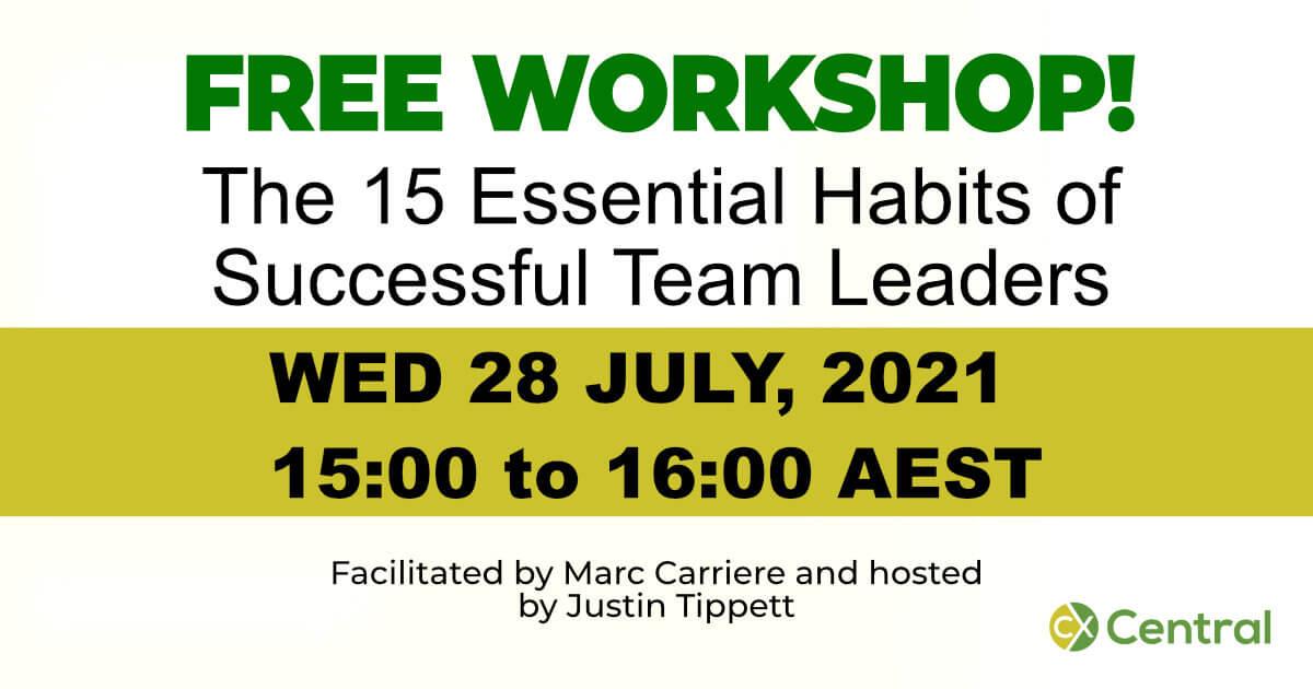 15 Essential Habits of Successful Team Leaders Free Workshop