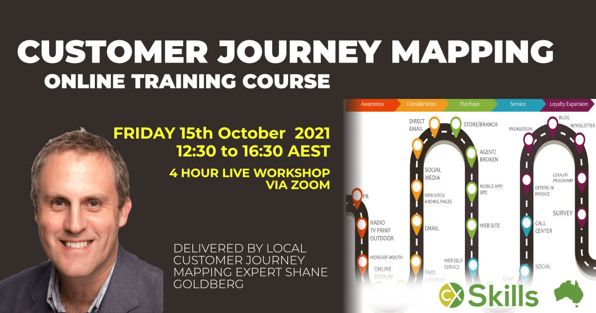 Customer Journey Mapping Course in Australia October 2021