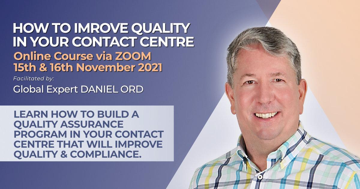 How to design a QA program for call centres November 2021 training course
