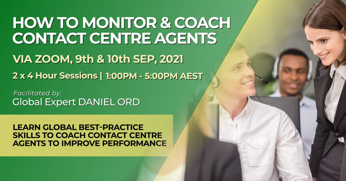 How to Monitor and Coach Contact Centre Agents September 2021 training course