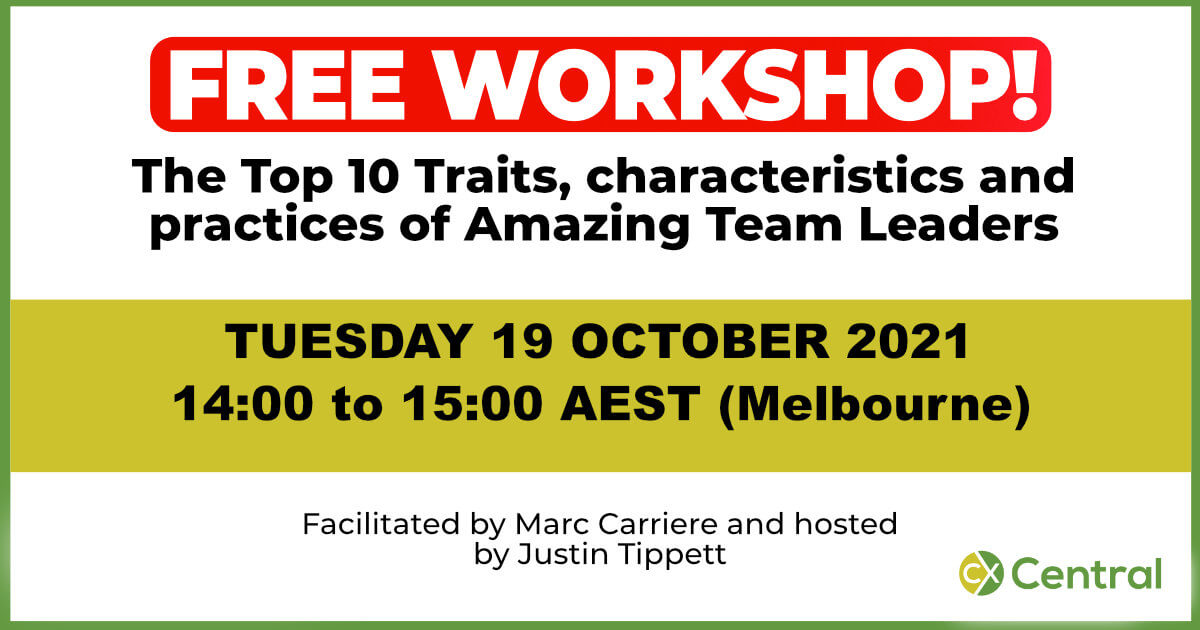 Top 10 traits of call centre team leaders free workshop Oct 21