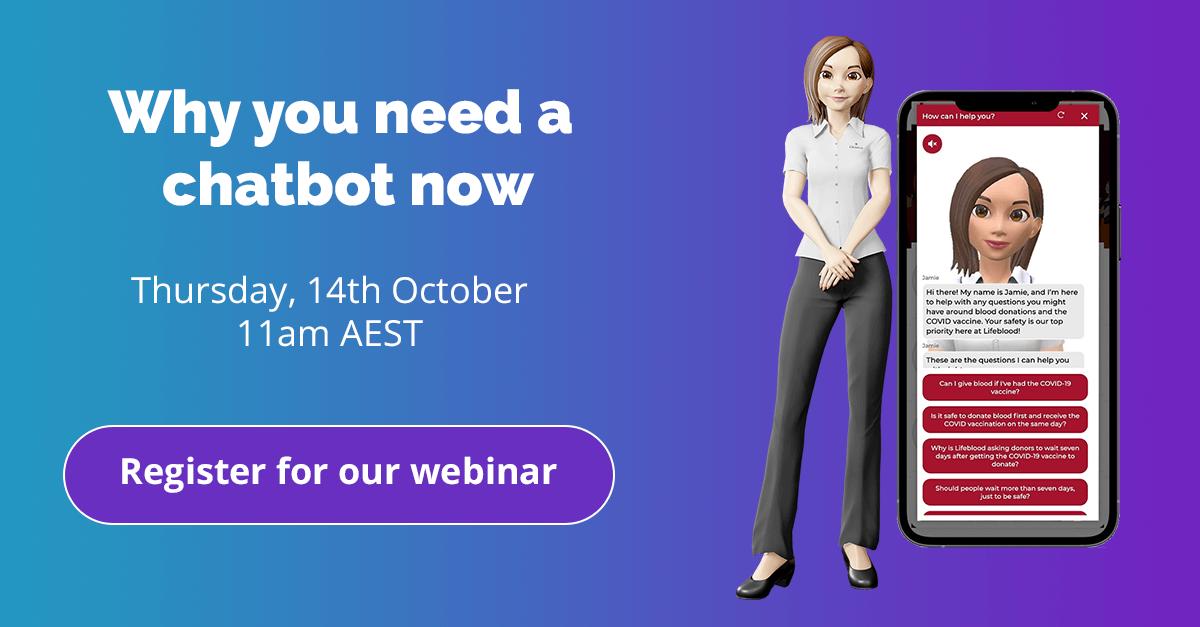 How a chatbot works free webinar October 2021