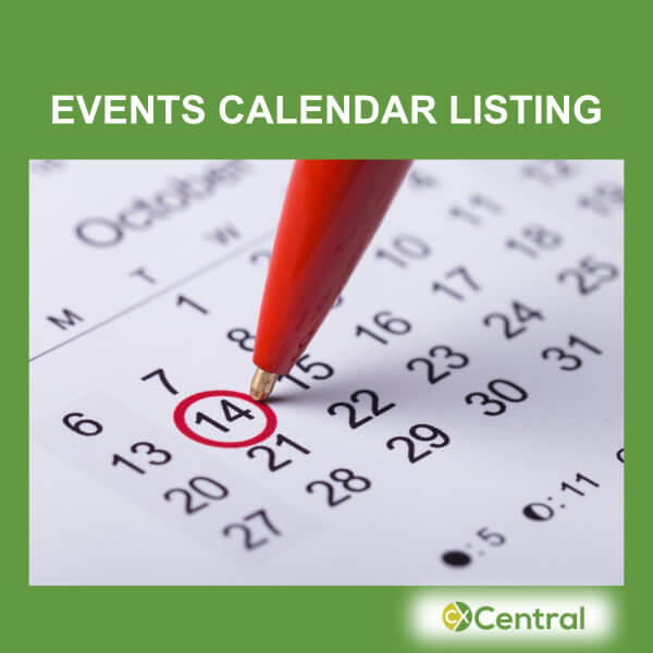 A picture of an Events Calendar with a date circled