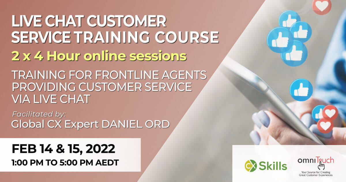 Online Live Chat training course for customer service agents in Feb 2022
